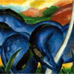 Franz Marc Large Blue Horses Painting Best Paintings