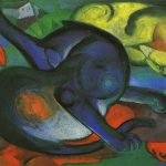 Franz Marc Two Cats Blue Yellow Zwei Katzen Blau Gelb Wikimedia