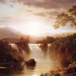 Frederic Edwin Church Landscape Waterfall Painting Framed Paintings