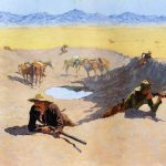 Frederic Remington Fight Water Hole Painting Best Paintings