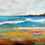 Fresh Off Easel Morning Large Abstract Beach
