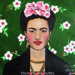 Frida Flowers Painting Signature