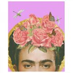 Frida Kahlo Art Print Flower Collage