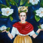 Frida Kahlo Print Art Mexican Folk