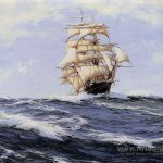 Gallant Clipper Torrens Montague Dawson Oil Painting