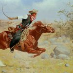 Galloping Horseman Painting Frederic