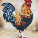 Garden Center Rooster Painting Ilse
