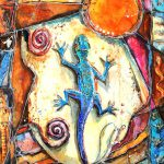Gecko Painting Patricia Allingham