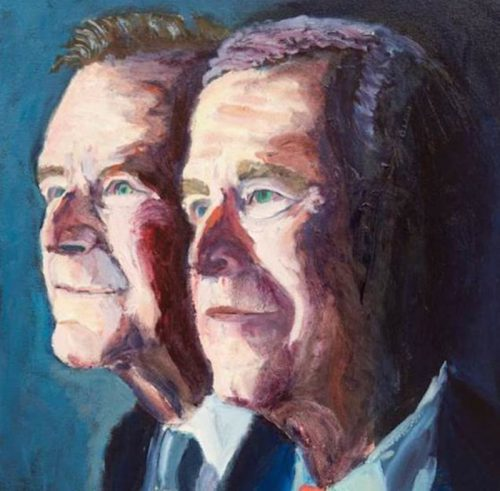 George Bush Paintings News Video Gossip
