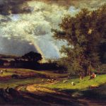 George Inness Passing Shower Painting Anysize Off