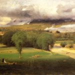 George Inness Sacco Ford Conway Meadows Painting Framed Paintings