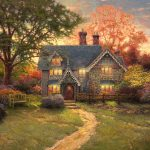 Gingerbread Cottage Limited Edition Art Thomas Kinkade
