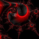 Glowing Red Black Abstract Fractal Art Digital Matthias