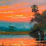 Golden Sunset Florida Highwaymen Harold