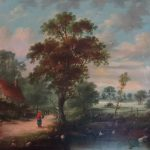 Gorgeous Late Century Victorian Tranquil Country Landscape Oil