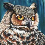 Great Horned Owl Painting Jeannette
