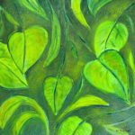 Green Leaves Oil Painting Fine Art Canvas