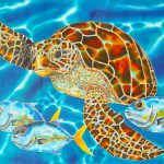 Green Sea Turtle Painting Daniel Jean