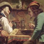 Gustave Courbet Game Draughts Painting Print