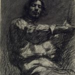 Gustave Courbet Young Man Sitting Study Self Portrait Known Easel
