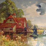Guy Paints Random Characters Into Old Thrift Store Paintings