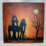Halloween House Acrylic Painting