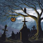 Halloween Painting Original Glowing