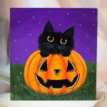 Halloween Paintings Canvas Lovely Best Acrylic Ideas