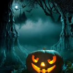 Halloween Pumpkins Art Oil Painting Print Canvas
