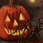 Halloween Spider Painting Tom