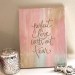 Hand Painted Canvas Art Scripture