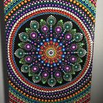 Hand Painted Mandala Canvas Meditation Dot Art Calming Healing