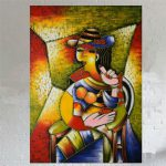 Hand Painted Oil Painting Canvas Famous Artist Picasso Abstract Beautiful