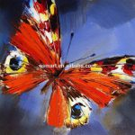 Handmade Abstract Butterfly Canvas Oil Painting