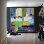 Handmade Large Contemporary Art Canvas Painting