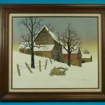 Hargrove Mail Pouch Barn Winter Landscape Painting