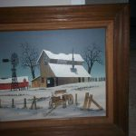 Hargrove Oil Painting Barn Windmill Horse Wagon Antique Appraisal