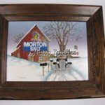 Hargrove Original Oil Painting Rural Scenery Morton Salt Barn Mail Delivery
