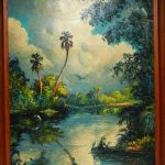 Harold Newton Highwaymen Oil Canvas