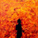 Heart Flames Painting Cevin