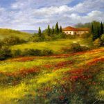 Heinz Scholnhammer Landscape Poppies Painting Best Paintings