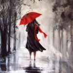 Helen Cottle Red Umbrella Tutt Art Pittura Scultura Poesia