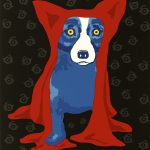 Hidin Blues Blue Dog George Rodrigue Limited Edition Print Lithograph