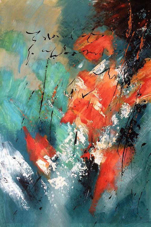 High Quality Abstract Painting Handmade Pol Ledent Still