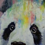 High Quality Animal Paintings Cute China Panda Oil Painting Canvas Living