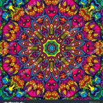 Hippie Psychedelic Art Seamless Pattern Vector