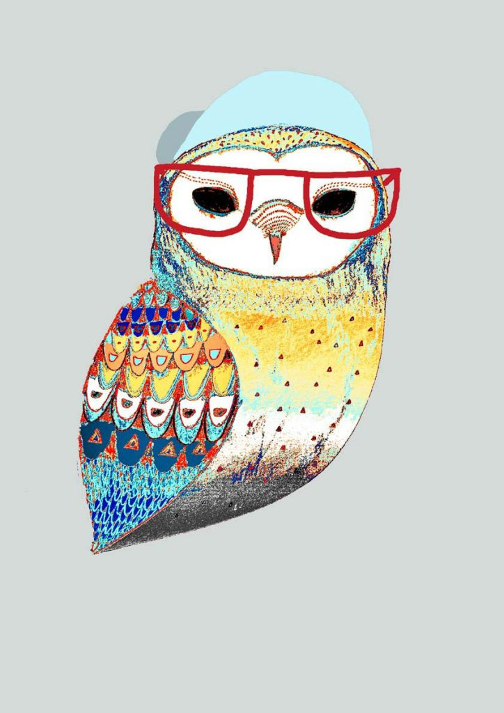 Hipster Art Owl Limited Edition