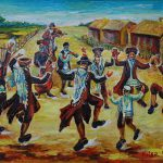 Holiday Jewish Settlement Painting Victor