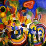 Homage Bleriot Painting Robert Delaunay Oil