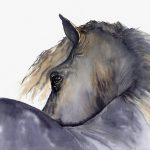 Horse Painting Looks Twice Giclee